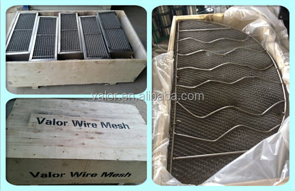 2017 Wave Type wire Mesh demister Pad/ Gas Liquid Separator