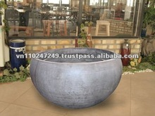 Light concrete Squat pot, Reinforced fiber cement