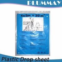 Hot sale HDPE or LDPE plastic dust sheet for decoration protection