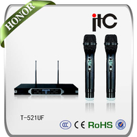 ITC T-521UF Using PLL Dual-channel FM Wireless Microphone UHF