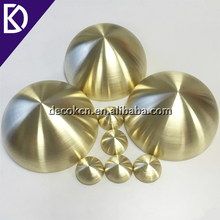 Custom small 25mm 35mm 45mm 55mm 65mm 76mm half hollow brass sphere