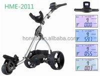 2015 the latest Mini LCD electric Golf Caddy Cart Golf Buggy Golf Trolley with lithium battery HME-2011