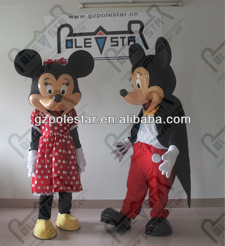 new fibre glass minnie and mickey mascot costumes NO.4213