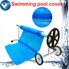 Popular swimming 3mm bubble pool cover with reel