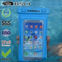 PVC Waterproof Mobile Phone Pouch for up to 6 inch Smartphone