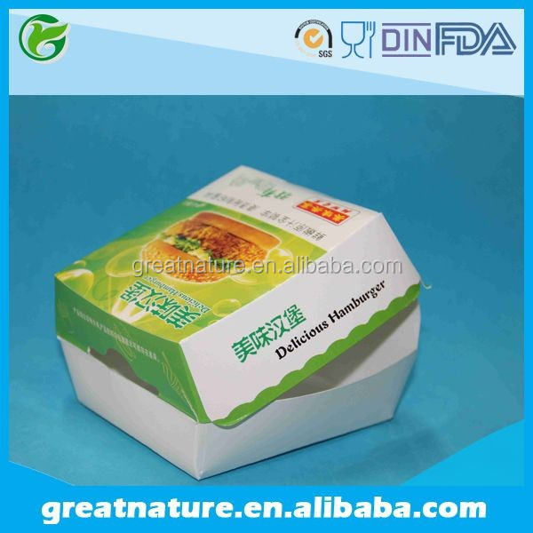 Grease proof paper food packing box