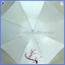 special shape vase fold bottle umbrella/flower printed fold umbrellas