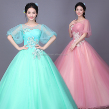 Ball Gown Long 2017 Mint Green Quinceanera Dresses Sweetheart Bodice Prom Dress