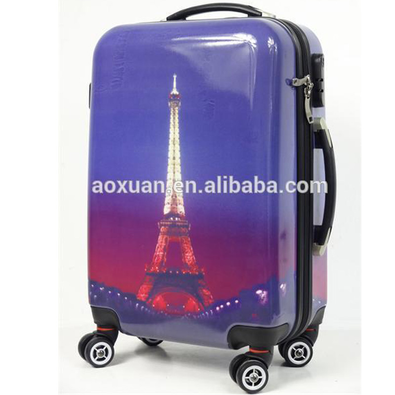 The Eiffel Tower luggage hard shell plastic travel suitcase case for ps3 Christmas gift