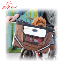Customized outdoor dog carrier fabric bike pet carrier pet basket