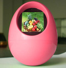 1.5 inch mini funny egg-shaped digital photo frame picture player