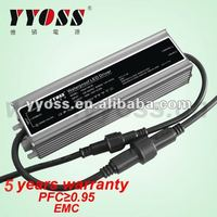 waterproof constant voltage 12v 24v 36v 48v LED driver (100W 150w 200w) 5 year warranty