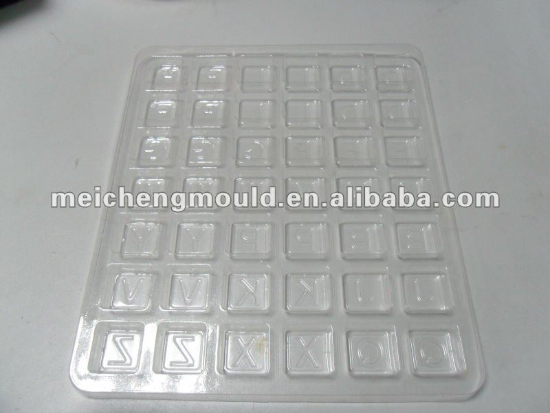 Plastic PET tray with dividers
