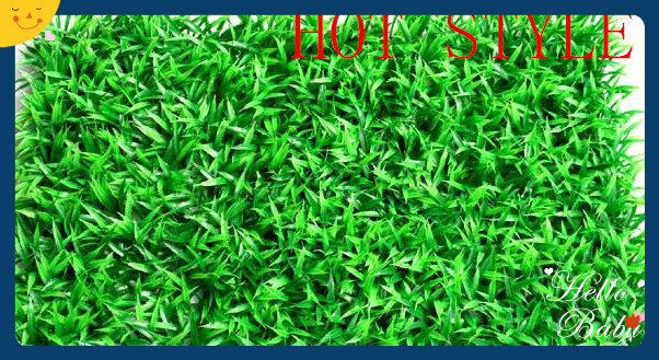 Green Artificial larger melon seed grass