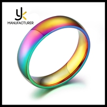 Korean POP Jewelry Wholesale 2016 New Colorful Stainless Steel High Polishing Rainbow Ring For Girls