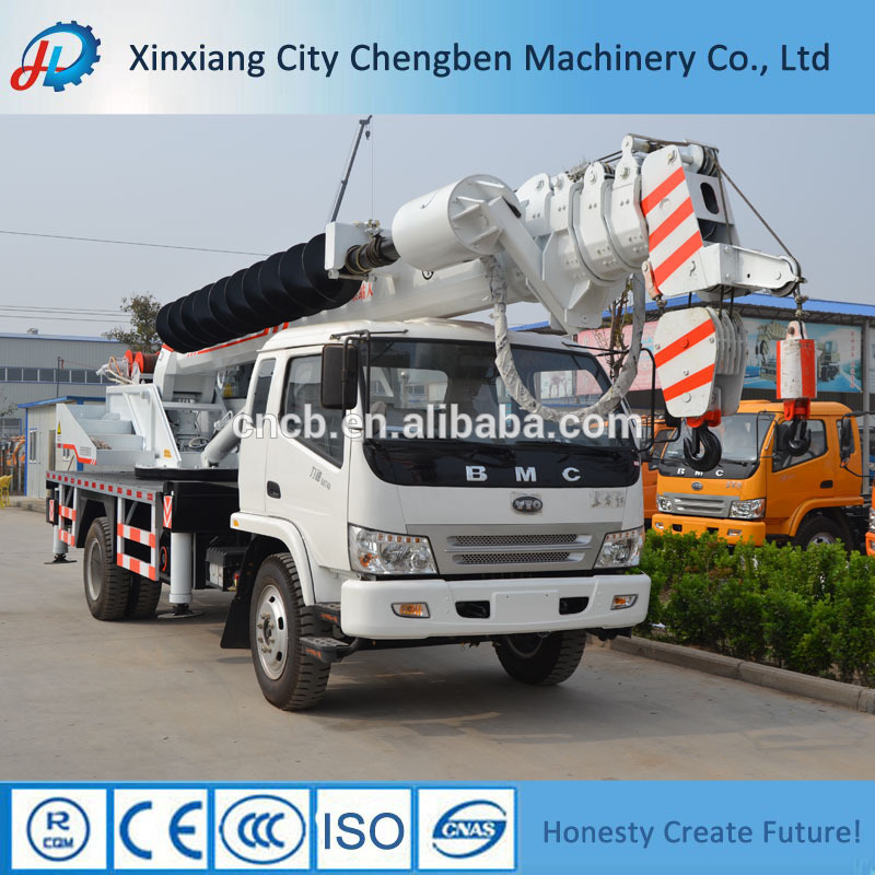 Big promotion BMC 12t heavy lifting pickup hydraulic truck crane for sale