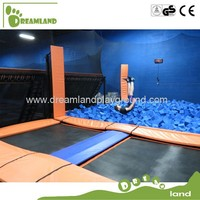 big bungee safety trampoline with foam pit