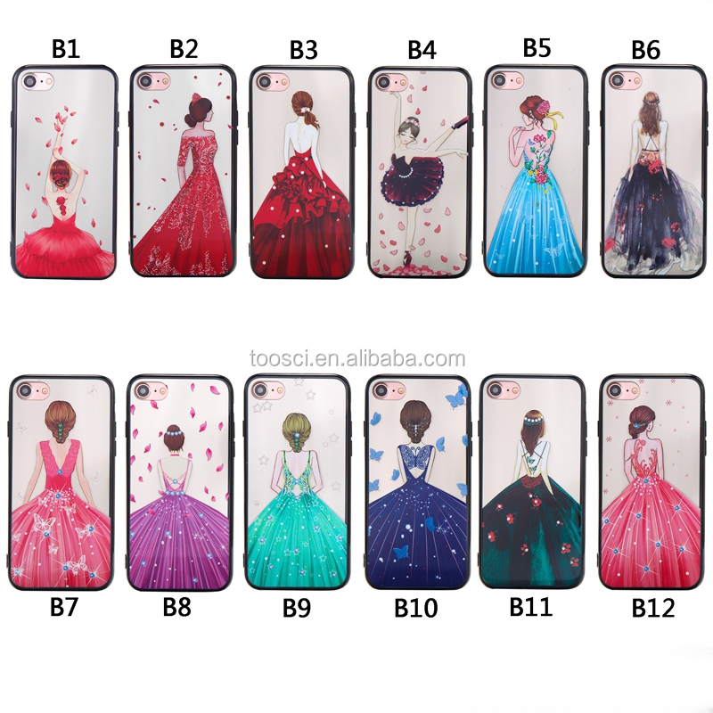Girl Back Patterns Cameo Wiredrawing Mobile Phone Case High Quality <strong>Cover</strong> For iphone 6s CPC-003