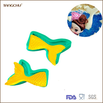 mermaid tail shape Silicone Cake Decoration Mold