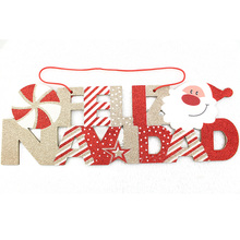 Hanging christmas English letters board movable door hanging decoration