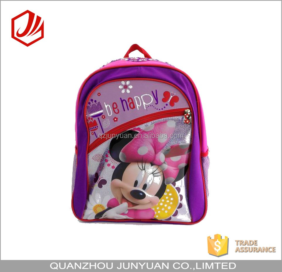 2016 hot selling lovely mickey mouse kids school backpack