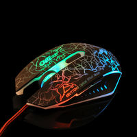 Adjustable 2000 DPI Computer Optical 6D Drivers USB Gaming Mouse with Multicolor Breath LED Light