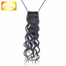Hot Selling High Quality Wholesale Cheap Unprocessed Malaysian Raw Virgin real hair ponytail hair