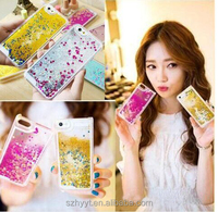 Colorful Moving Stars Liquid Glitter Quicksand 3D Bling Phone Case Cover For Iphone 6s iphone5/5S