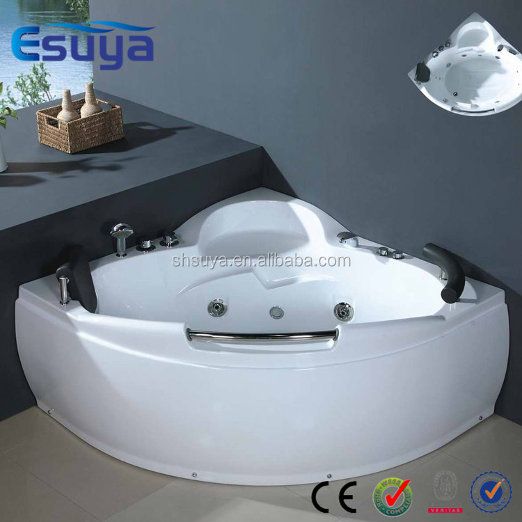 High self- cleaning portable personal spa whirlpool massage corner bathtub/hot tub