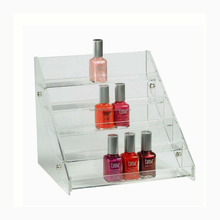 fashionable clear professional acrylic make up stand, cosmetic display showcase