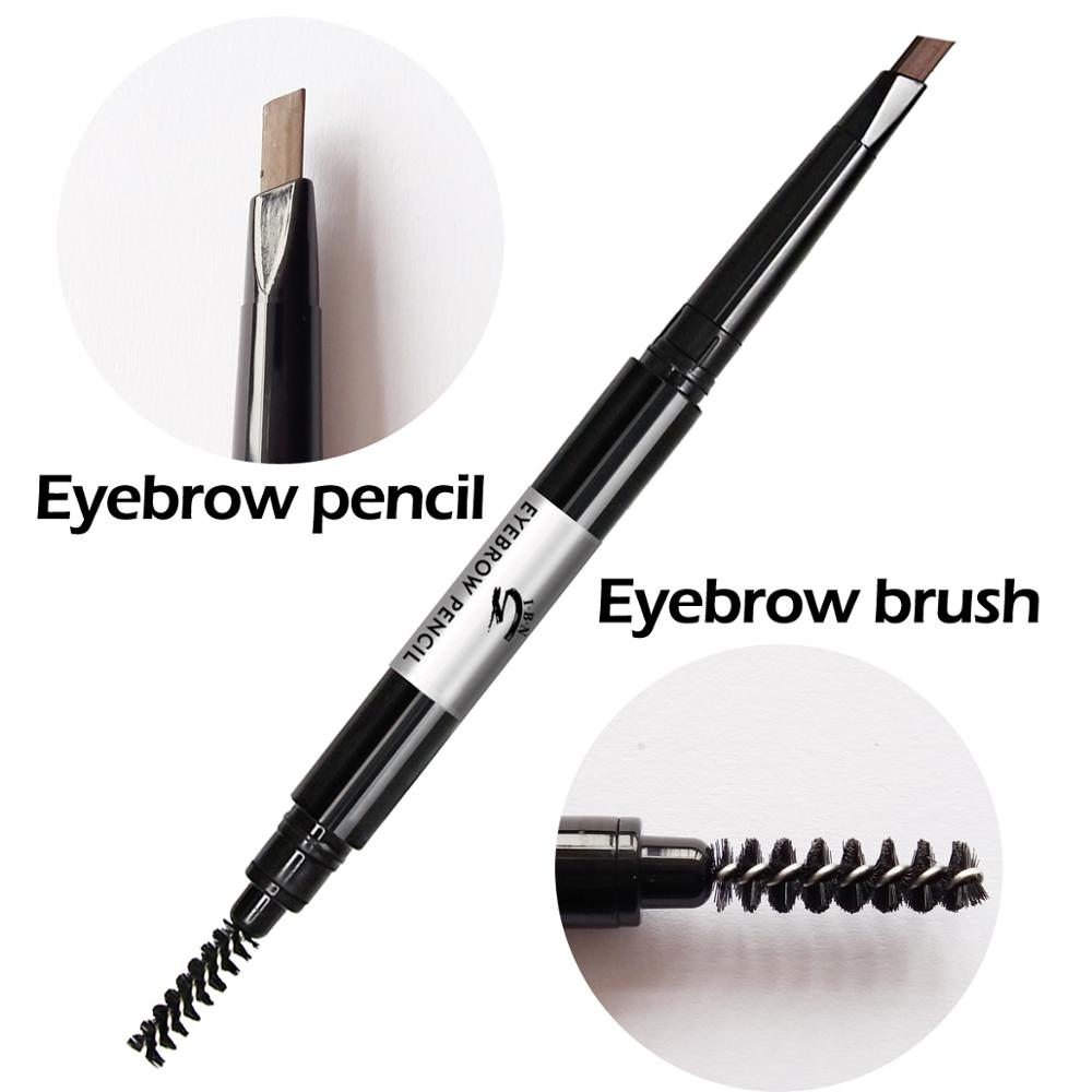 Private label women tool set eyebrow pencil with make up brush