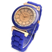 Watch Geneva Silicone fashion Geneva watch fashion silica gel jelly diamond quartz watch