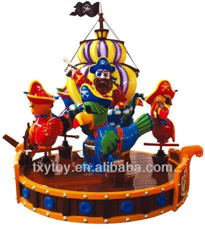 2014 new style deluxe indoor small electric merry-go-round