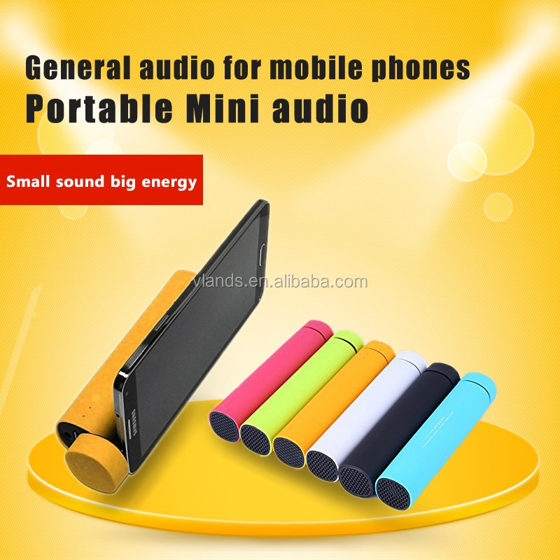 Factory 3 in1 functions mobile phone holder 4000mah power banks,power tube speaker,power bank bluetooth speaker