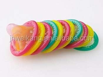 Chinese condom world with all types of OEM color flavored condom