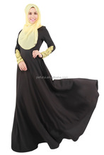 Wholesale Size Fashion Muslim Women's Wear Long Sleeve Dress Lace Embroidery Hijab And Abayas Arab DubaiI Fancy Caftan