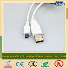 good quality usb data charger cable mini 5 pin cable for mp3 mp4