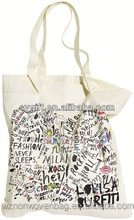 Popular Custom Thick Shopping Canvas Cotton Full Color Printing Tote Bag