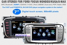 7 inch Car GPS Navigation for Ford FocusKuga Mondeo S-max Galaxy car SAT NAV CAR Autoradio DVD player