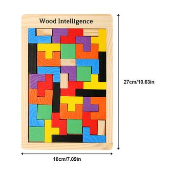 Wholesale Wooden Puzzles Toys Jigsaw Board Shape Child Educational Toy Brain Teaser Non Wood Children Kids Gift jigsaw puzzle