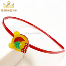 Hot Selling Kids Baby Headband With Bow In Hairband Rhinestone Bear with Glitters