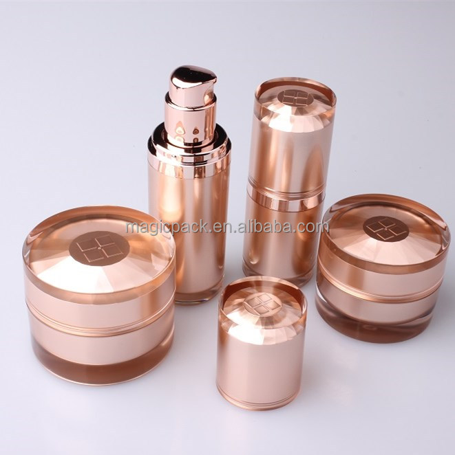 List manufacturers of rose gold cosmetic packaging buy for Custom cosmetic jars