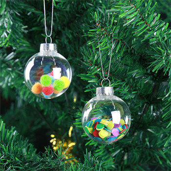 Wholesale Custom Transparent Christmas Tree Decoration Crystal Ball Plastic Christmas Plastic Ball