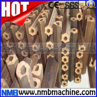 Non-binder peanut shell briquette press machine