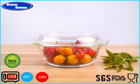 Multifunctional Popular Glass Crystal Pot Microwave & Oven Safe Use