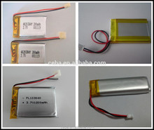 lipo battery 3.7v 180mah hot item