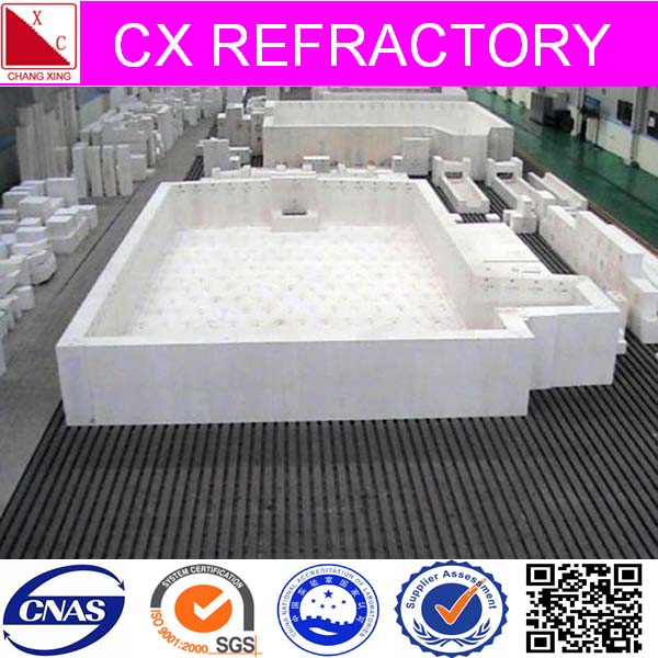 Reliable supplier of fusion cast refractory insulation fire bricks for oven