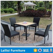 Used furniture in gujrat pakistan wicker dining table with solid wood
