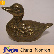 metal craft brass duck yard statues for sale NTBH-D011Y