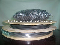 BTUM 6.4/1.5mm 4:1 shink ratio thin & flexible flame retardant Adhesive Lined polyolefin Heat Shrink Tubing